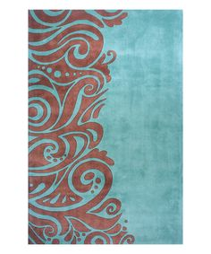 Love this Turquoise Henna Wool Rug on #zulily! #zulilyfinds