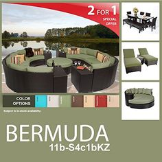 Bermuda 22 Piece Outdoor Wicker Patio Furniture Package BERMUDA11bS4c1bKZ ** Visit the image link more details.(This is an Amazon affiliate link and I receive a commission for the sales)