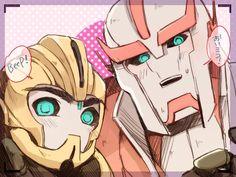 iseyun:  TF Prime: Bumblebee+Ratchet