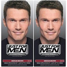 Just for Men Shampoo-In Hair Color, Medium Brown (2 Pack) >>> Details can be found by clicking on the image. (This is an affiliate link) #HairColoringProducts