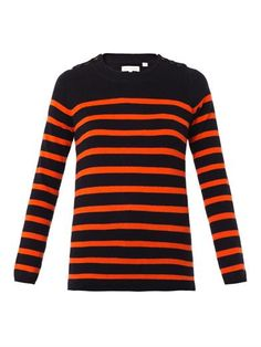 Guernsey striped cashmere sweater   Chinti and Parker   MATCHE...