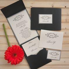 Cecilia Folio Wedding Invitations The American Wedding  http://www.theamericanwedding.com/cecilia-folio-pocket-wedding-invitations.html