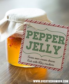 pepper jelly christmas Pepper Jelly Neighbor Gift Idea w/ Printable Gift Tag