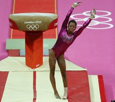 U.S. gymnast Gabrielle Douglas dismounts from the vault during the Artistic Gymnastic women's individual all-around competition at the 2012 Summer Olympics, Thursday, Aug. 2, 2012, in London.