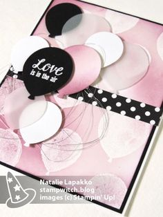 Homemade card featuring Balloon Bouquet Punch and Balloon Builders stamp set from Stampin' Up!
