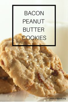 Bacon + Peanut Butter = COOKIES. These are sooooo good!!! #recipe