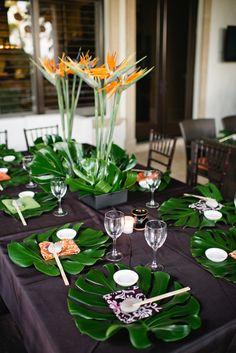 tropical dinner party #tropical #dinner #party