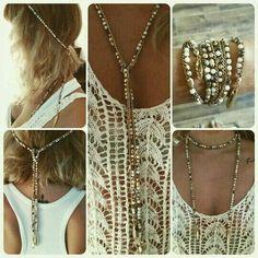 Zoom sur le collier Zoé lariat, voilà une manière intéressante de le porter! #stelladotstyle