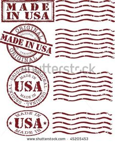 usa postage stamp tattoo | Vector Made In Usa Stamp With Red Ink - 45205453 : Shutterstock