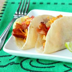 Bacon and Egg Breakfast Tacos - something different for breakfast and so good too.