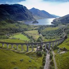 Glenfinnan Viaduct with Loch Shiel in the background, North West Highlands, Scotland
