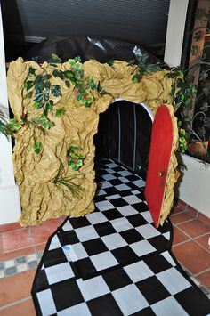 The rabbit's hole tunnel exit. Tunnel was 40 feet long, pvc & wood frame with black plastic sheeting.