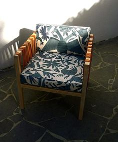 This reminds me of our wedding.   Otomi Textiles as Upholstery : Remodelista