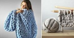 CraShe Shows Us How To Knit These Giant Blankets That Are Perfect For Winter