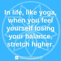 #yoga #yogaatwork #yogaintheworkplace #corporateyoga #yogaquote #yogaquoteoftheday #employeewellness #balancingyogaposes #yogabalancequote #inner.resources #resourcerecruitment @inner.resources www.2r.co.za Yoga Balance Quotes, Yoga Quotes, Employee Wellness, Losing You, Quote Of The Day, Feelings, Life, Day Quotes