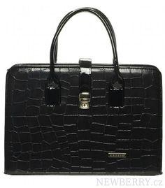Luxusní černá dámská aktovka