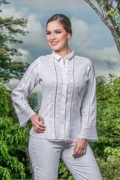 CONJUNTOS Y VESTIDOS - PRIMAVERAL Bordados y Accesorios Blouse Designs Silk, Western Wear, Sewing Hacks, Boho, Fashion Dresses, Womens Fashion, Casual, How To Wear, Blouses