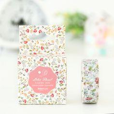 DIY Japanese Paper Decorative Adhesive Tape Cartoon Violaceum Washi Tape/masking Tape Stickers Size 15mm*7m