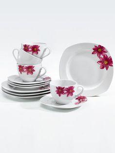 Kaffeservise i 12 deler -Blomst-