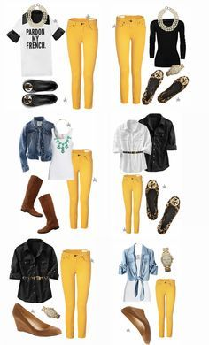 CAbi Spring has a beautiful pale yellow pant - that will work with so much - a neutral for your spring wardrobe