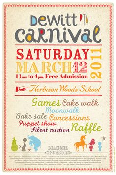 POSTER DESIGN FOR THE DEWITT PTA CARNIVAL