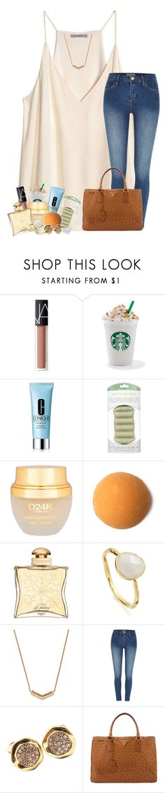 """""""So frustrated"""" by livnewell ❤ liked on Polyvore featuring H&M, NARS Cosmetics, Clinique, The Konjac Sponge Co, D24K Cosmetics, Hermès, Monica Vinader, Dana Rebecca Designs, River Island and Tiffany & Co."""