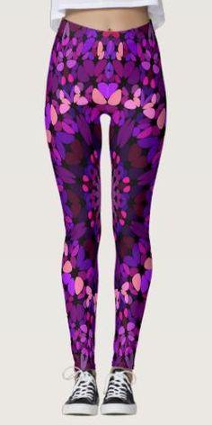 Discover Purple leggings at Zazzle! Purple Leggings, Yoga Fashion, Mandala Design, Printed Leggings, Boho Outfits, Leggings Fashion, Dressmaking, Things That Bounce, Womens Fashion