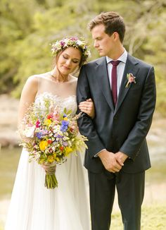 This couple added a bohemian flair to their romantic Texas wedding. See the pictures of this unique and breathtaking event!