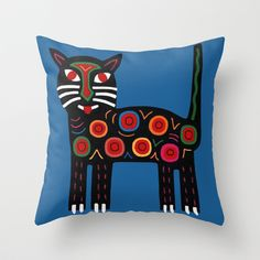 Dharma Blue - An original MolaMama design guaranteed to elicit an audible purr! Prints, totes and pillows..