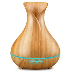 URPOWER Essential Oil Diffuser, Wood Grain Cool Mist Humidifiers Ultrasonic Aromatherapy Diffusers with 4 Timer Setting and High or Low Mist Output for Home Bedroom Baby Room Study Yoga (Light) Essential Oil Diffuser Humidifier, Best Essential Oil Diffuser, Ultrasonic Cool Mist Humidifier, Aroma Essential Oil, Organic Essential Oils, Aroma Diffuser, Best Essential Oils, Air Humidifier