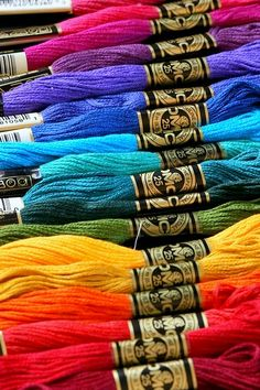 WORLD OF HAPPY COLOURS...remember  making friendship bracelets with these?