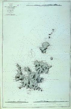 Plano de la isla de Cabrera y adyacentes. Comisión Hidrográfica. 1891