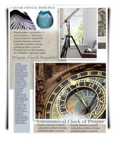 """Astronomical Clock of Prague"" by betiboop8 ❤ liked on Polyvore featuring interior, interiors, interior design, home, home decor, interior decorating and Eichholtz"