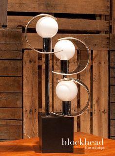Mid Century Modern Atomic Bubble Lamp by BlockHeadFurnishings on Etsy https://www.etsy.com/listing/189491832/mid-century-modern-atomic-bubble-lamp