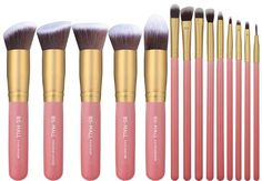 14 pc Kabuki Makeup Brush Set Cosmetics Foundation Blending Contouring