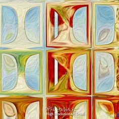 Modern Tile Art   Tile Art #1, 2015. Modern Mosaic Tile Art Painting   Modern Abstract Painting