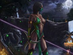 Mortal Kombat Legacy - Jade Fan Art Created by Esau Murga Mortal Kombat Legacy, Jade Mortal Kombat, Kitana Mortal Kombat, Scorpion Mortal Kombat, Video Game Characters, Fantasy Characters, Female Characters, Cassandra Cage, Game Art