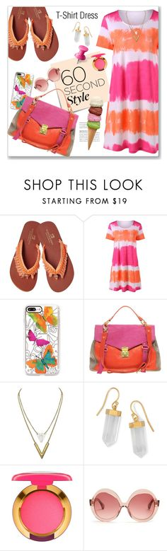 """""""T-Shirt Dress"""" by sheryl-lee ❤ liked on Polyvore featuring Post-It, Casetify, ASOS, BillyTheTree, MAC Cosmetics, Kaleos, MANGO, icecream, tshirtdresses and 60secondstyle"""