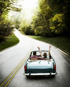 Beautiful road with the top down...