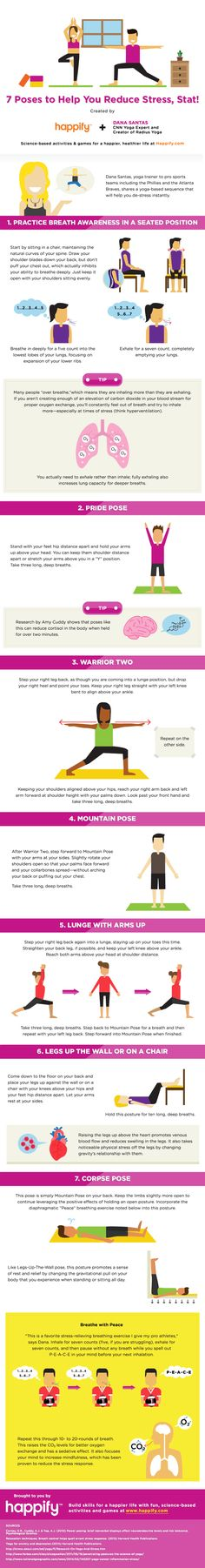 7 Breathing Exercises To Help You Reduce Stress (Infographic) #stress #health
