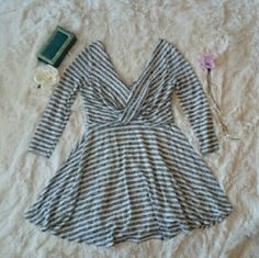 NWT! FREE PEOPLE STRIPED KNIT MAVERICK DRESS Very versatile dress from Free People. Cute and girly from work to happy hour.  *As always, feel free to make me a reasonable offer :)  *Bundle to save on shipping and get 15% discount! Free People Dresses