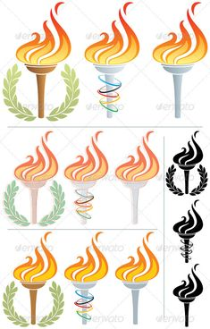 Flaming Torch #GraphicRiver Stylized illustration of a flaming torch in 12 different versions. No transparency used. Basic (linear) gradients used in the first 3 torches. CDR , AI, EPS , JPEG, PSD and PNG files. Created: 14May12 GraphicsFilesIncluded: PhotoshopPSD #TransparentPNG #JPGImage #VectorEPS #AIIllustrator Layered: Yes MinimumAdobeCSVersion: CS Tags: AncientOlympicGames #FlamingTorch #SummerOlympicGames #WinterOlympicGames #burning #champion #clipart #clipart #competiti...