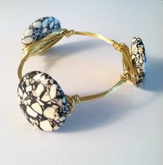 The Charlotte  gold wire wrapped bracelet bangle by SOHbangles