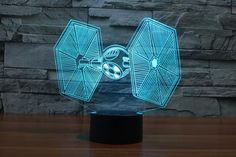 Collector's Item:TIE FIGHTER 3D LED LampFantasticallyunique items for true fans and makes a great gift.Lights...