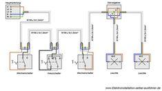 schaltplan f r wechselschaltung und wechselschalter elektro electronic schematics diy und. Black Bedroom Furniture Sets. Home Design Ideas