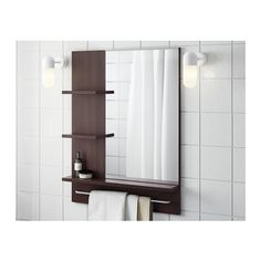 LILLÅNGEN Mirror, black-brown black-brown 60x11x78 cm