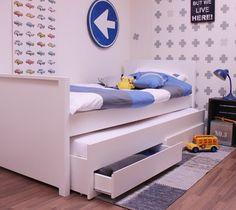Łóżko Jamie zestaw z dodatkowym wysuwanym  spaniem