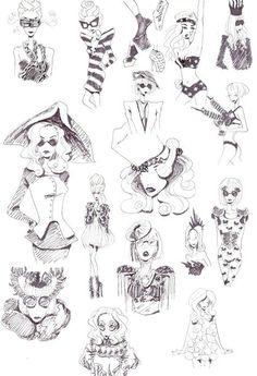 Lady Gaga fashion sketches! Cool!!