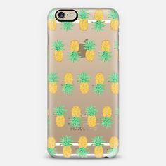 Pineapple Stripes - Transparent/Clear Background - Classic Snap Case