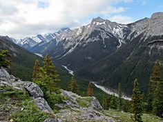 View from Wasootch Ridge in Kananaskis west of Calgary, Alberta, Canada